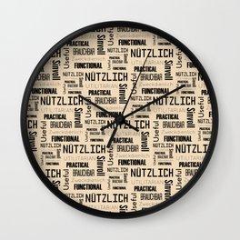 Nutzlich Pattern Wall Clock