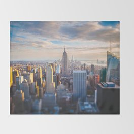 New York City at Sunset Throw Blanket