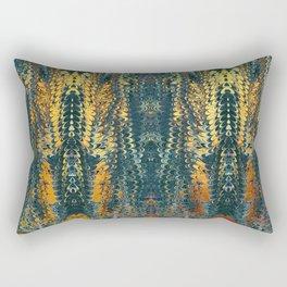 gold cactus marble Rectangular Pillow