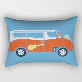The  Monkeemobile Van Rectangular Pillow