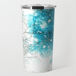 Black Trees Turquoise Brown Space Travel Mug