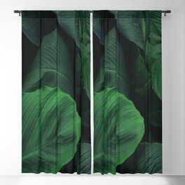 Green Nature Deep Leaves Blackout Curtain