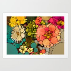 Perky Flowers! Art Print