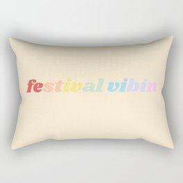 festival vibes Rectangular Pillow