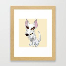Jango, el podenquito blanco Framed Art Print