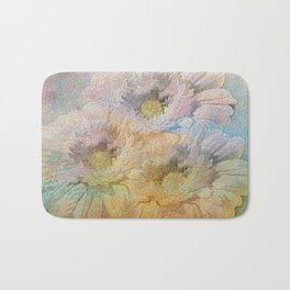 Soft Painted Rainbow Daisies Abstract Bath Mat