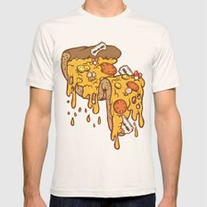 Cheezy Natural LARGE Mens Fitted Tee