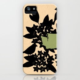 Washington - State Papercut Print iPhone Case