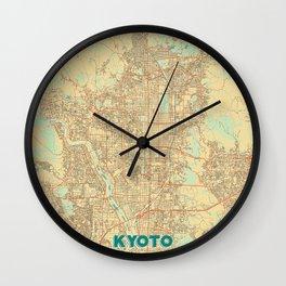 Kyoto Map Retro Wall Clock