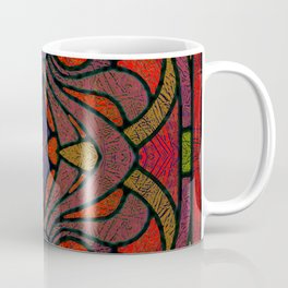Art Nouveau Glowing Stained Glass Window Design Coffee Mug