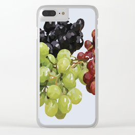 Grape Bunches Clear iPhone Case
