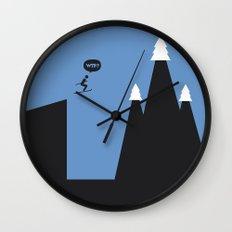 WTF? Ski Wall Clock