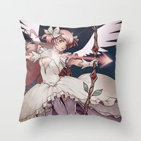madoka magica Throw Pillows featuring Puella Magi Madoka Magica by Ravenno