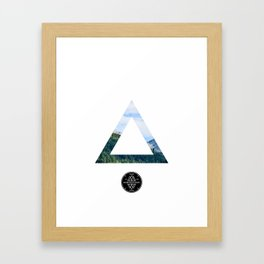 The Forest View Triangle Framed Art Print
