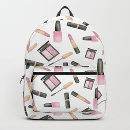Watercolor beauty product pattern Backpack