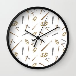 Weapons Pattern Wall Clock