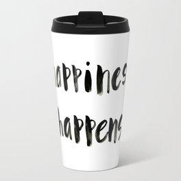 Happiness Happens Travel Mug