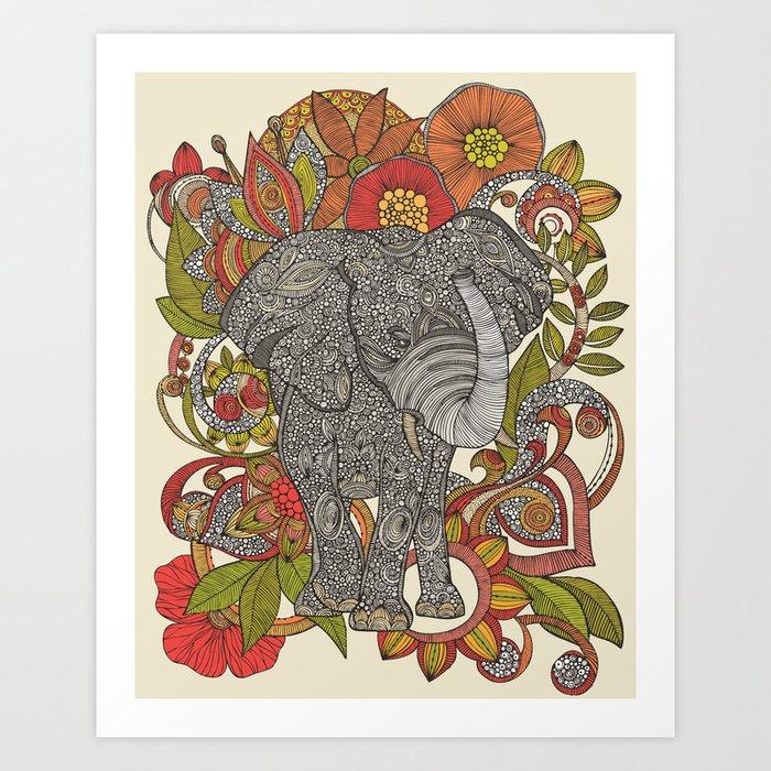 Bo the elephant Art Print