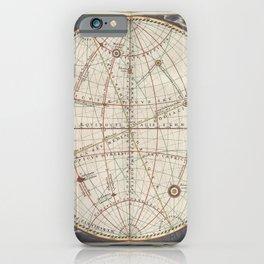Keller's Harmonia Macrocosmica - Celestial and Terrestrial Hemisphere 1861 iPhone Case