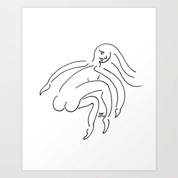 """A Jazzy Woman"" Art Print"
