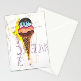 Birthday Cake Ice Cream Cone Stationery Cards