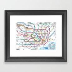 Tokyo Subway Map Framed Art Print