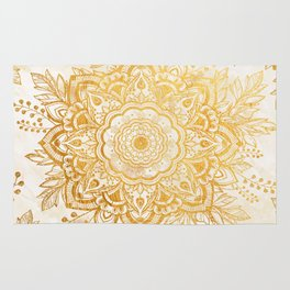 Queen Starring of Mandala-Gold Sunflower I Rug