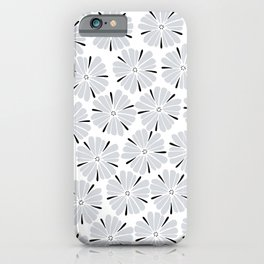 easy living cool grey flowers iPhone Case