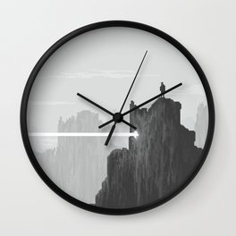 Pixel Art Landscape 005 Wall Clock
