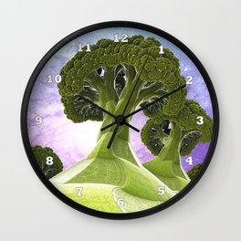 Broccoli Planet Wall Clock