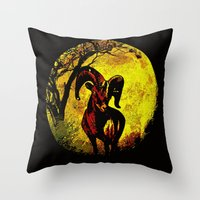 ram Throw Pillows featuring Ram by Saundra Myles