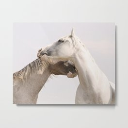 Horse Friends Metal Print