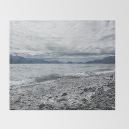 Incoming Clouds Over Seward Throw Blanket