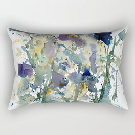 Iris Garden watercolor painting Rectangular Pillow