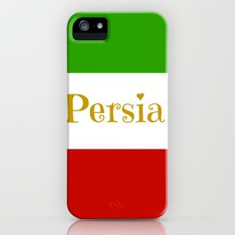 Persia in gold green and red stripes iPhone Case