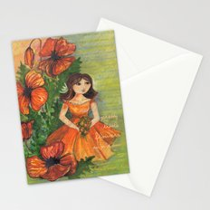 Pretty flowers in a row Stationery Cards