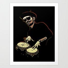 Bongo Beatin' Beatnik Art Print