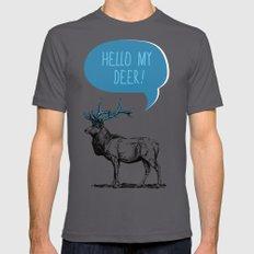 Hello My Deer! LARGE Asphalt Mens Fitted Tee