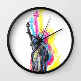 Statue of Liberty CMYK Wall Clock