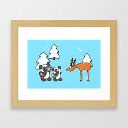 Pandas tourists Framed Art Print