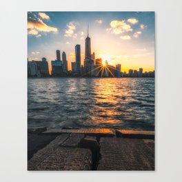 Chicago Sunset Canvas Print