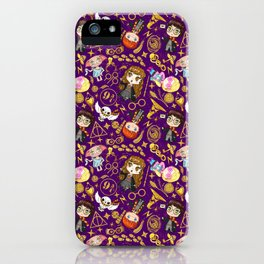 HP FRIENDS MAGICAL KIDS, MAGIC CHILDREN, WITCHES AND WIZARDS,magical characters iPhone Case