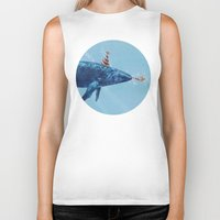 party Biker Tanks featuring Party Whale  by Terry Fan