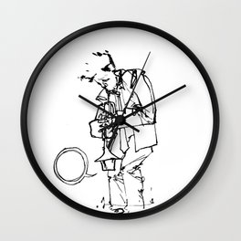 the trumpeter Wall Clock