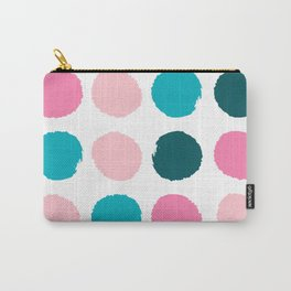 Hugo - abstract modern color palette gender neutral baby nursery dorm college art Carry-All Pouch