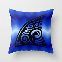 Tribal Art Shark Fin Throw Pillow