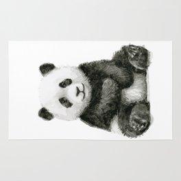 Panda Baby Watercolor Animal Art Rug