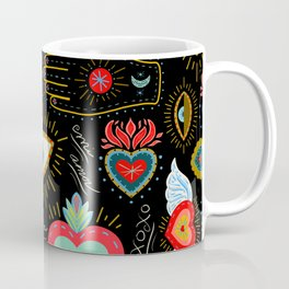 Milagro Love Hearts - Black Coffee Mug