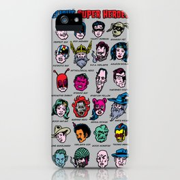 The Hall of Cliché Super Heroes iPhone Case