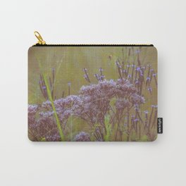 Summer Botanical Meadow Marsh with Joe Pye Weed and Blue Vervain Wildflowers Carry-All Pouch